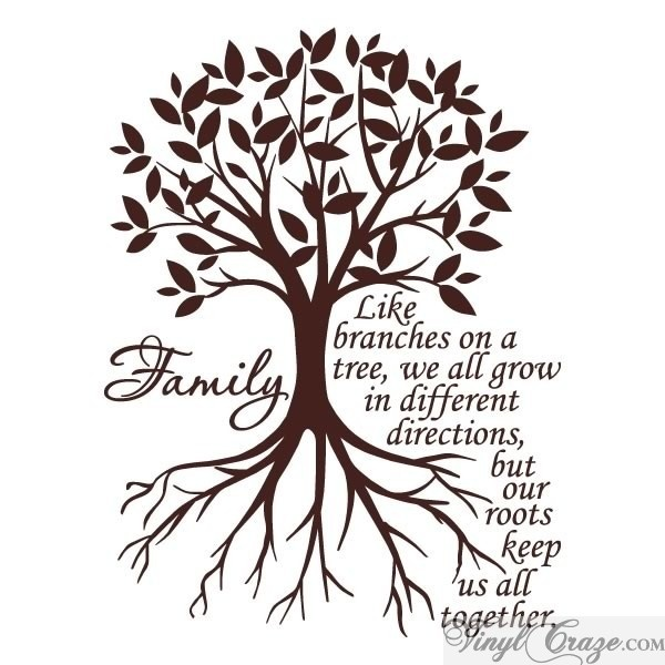 """""""Like branches on a tree we all grow"""" is a perfect vinyl wall quote for any room in your home. Our vinyl quotes come pre-spaced, and install in less than 5 minutes."""