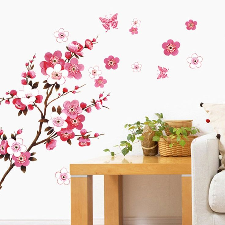 Cherry Blossom Tree Wall Stickers for Bedroom