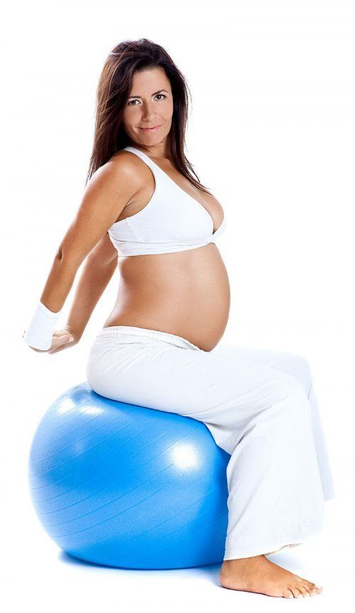Contracciones de la embarazada durante los ejercicios físicos