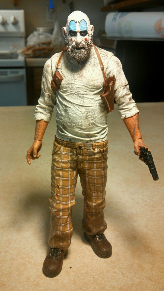 "Neca/The devils rejects""Captain Spaulding""figure w/custom face!+Free gift! #NECA"
