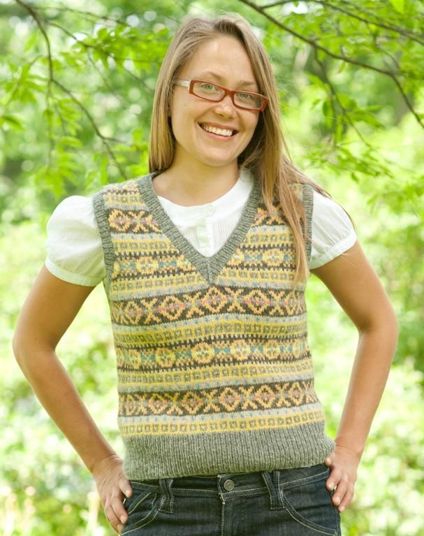 I need to learn to steek. Love that word!! The Fair Isle Vest: Stranded & Steeked: A Fair Isle Knitting Class