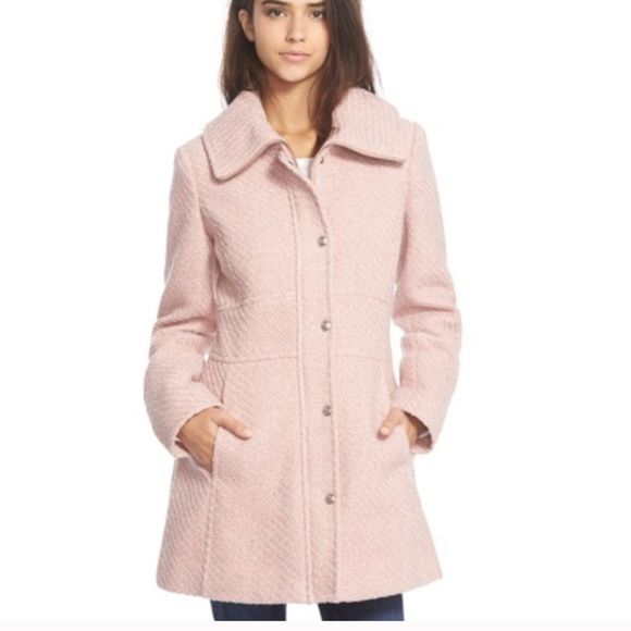 Jessica Simpson blush pink coat This is the Blake Lively coat for sure. It's so classy & adorable. Don't miss out on this beauty  Jessica Simpson Jackets & Coats