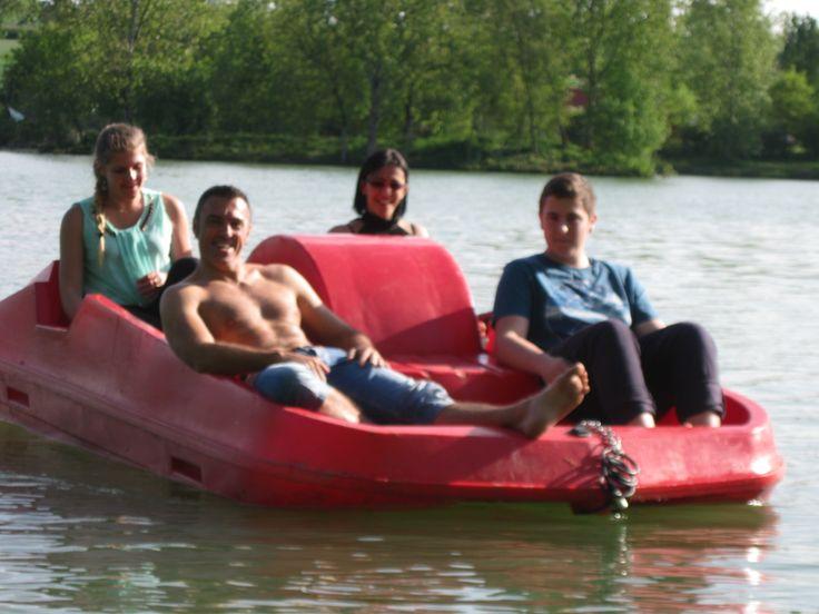 Sortie en famille sur le lac de Lamontjoie