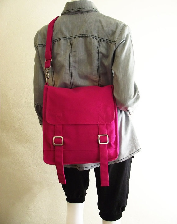 simpleMessenger Bags, Hot Pink, Canvases