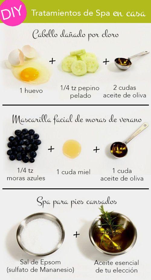 DIY Sencillas recetas caseras de tratamientos Spa