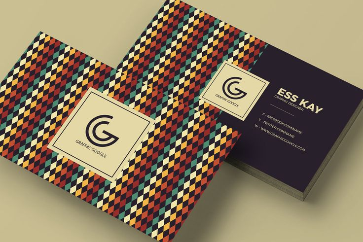 This free clean business card template features a vintage style and can be fully customized.