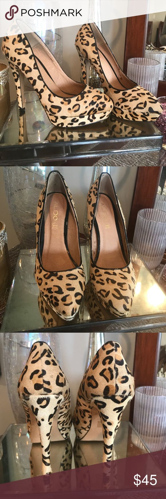 ALDO Cheetah Heel | size 8 ALDO Cheetah Heel | size 8 | worn once - like new with exception of soles (see photo) Aldo Shoes Heels
