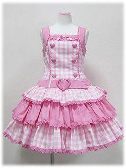 sweet plaid lolita dress kawaii~maiden sleeveless attraction succinct~Happy emo