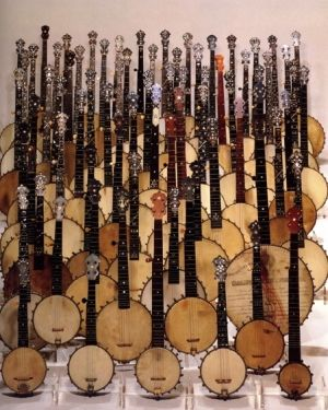 Dozens of Banjo family musical instruments with many sizes and wood colors - no excuse for not being able to find the right one for you! -  DdO:) MOST POPULAR RE-PINS - http://www.pinterest.com/DianaDeeOsborne/instruments-for-joy/ - INSTRUMENTS FOR JOY. Great stringed sound to accompany guitar and upright bass. Pinned from cSw:)  - http://www.pinterest.com/claxtonw/ - 4 5 6 Strings Pinterest Board
