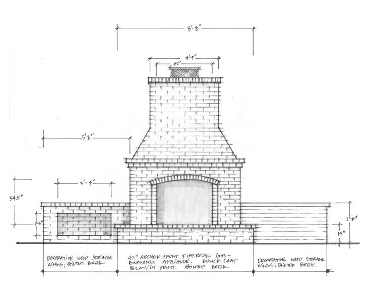 Fireplace detail.