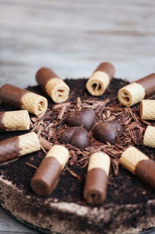 Шоколадный чизкейк с шоколадной стружкой.. Комментарии : LiveInternet - Российский Сервис Онлайн-Дневников
