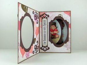 Peek-a-Boo Card Tutorial - Splitcoaststampers....by Norma Lee A sliding panel reveals a hidden message or image when this card is opened.