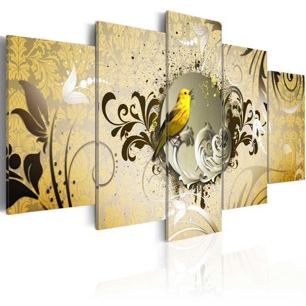 Quadro - Canto dell'uccello giallo