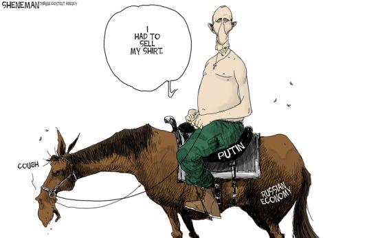 RUSSIAN ECONOMY   Dec/17/14  Political Cartoon by Drew Sheneman - US News