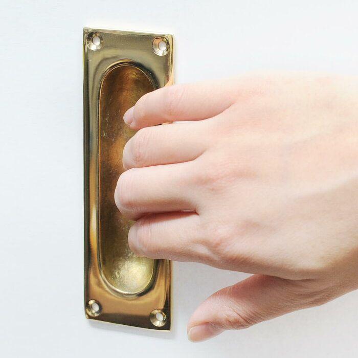 楽天市場 真鍮 プル 引き戸 スライド ドア ハンドル 取っ手 引手