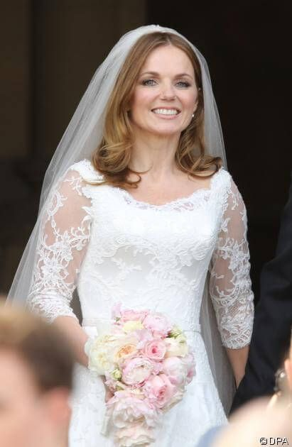 Geri Halliwell's wedding dress. The Sugar and Spice girl.