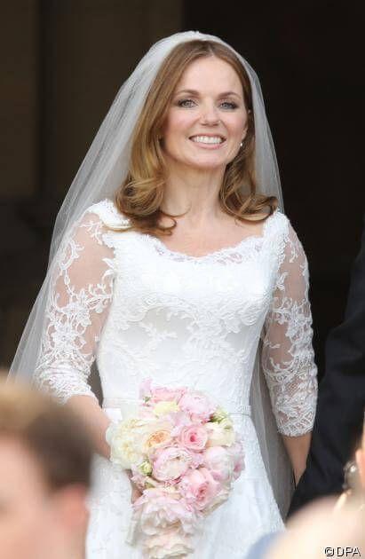 Geri Halliwell's wedding dress. The Sugar and Spice girl.