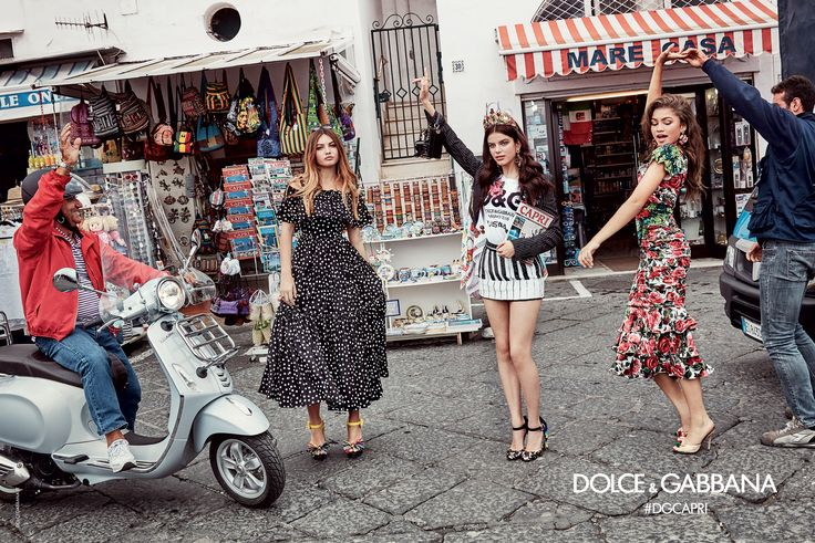 Zendaya, Sonia Ben Ammar, Thylane Blondeau shot in Capri by Franco Pagetti for Dolce&Gabbana SS17 Women Advertising Campaign. #DGMillennials #DGCapri #DGCampaign #DGSS17
