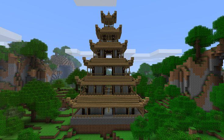 Minecraft japanese pagoda ideas design 13976 inspiration for Pagoda house plans