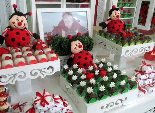 sobre Festa De Joaninha no Pinterest  Comidas de festa de joaninha