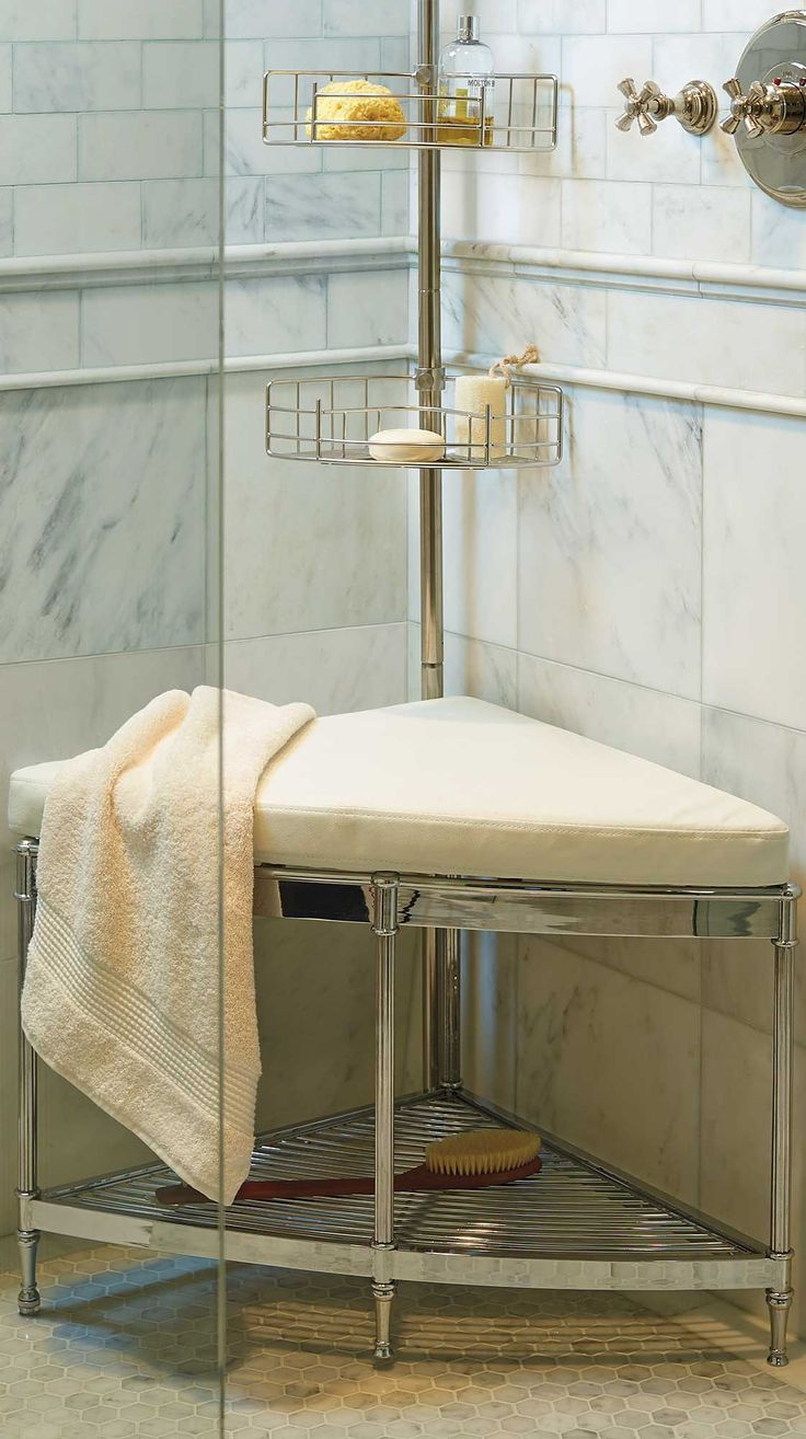 With furniture-level detailing, our Belmont Shower Corner Seat brings smart luxury to even the smallest retreat.