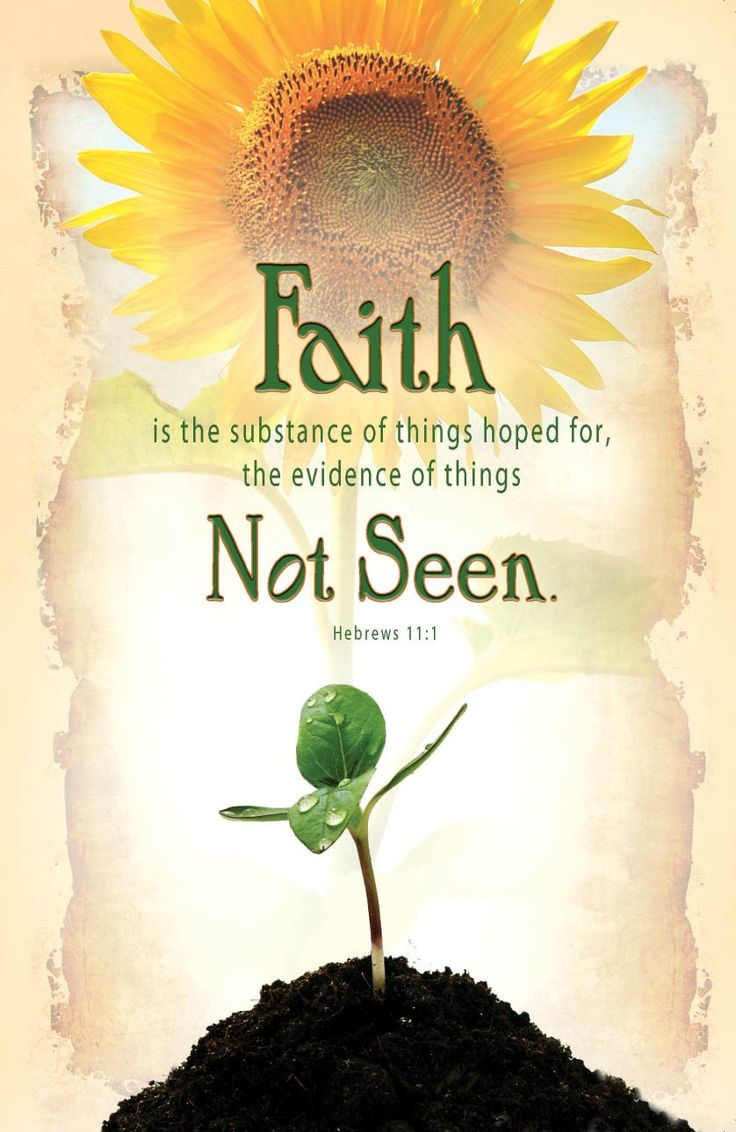 """Now faith is the substance of things hoped for, the evidence of things not seen."" (Hebrews 11:1 KJV)"