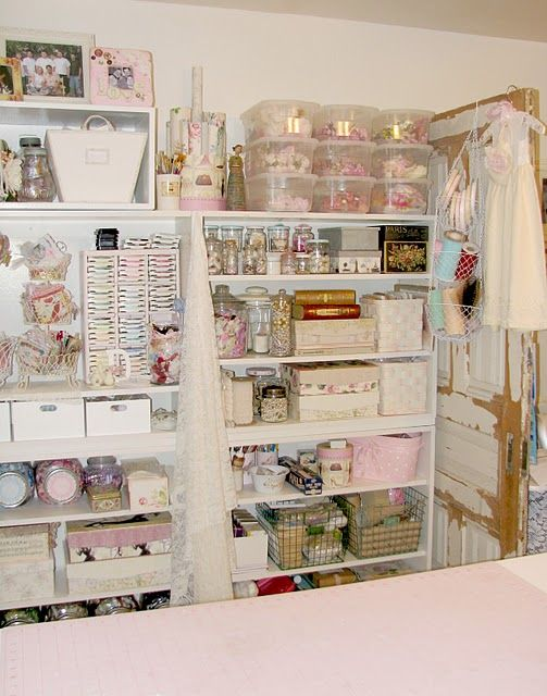 A beautiful shabby and organized studio: Sewing Room, Studios, Search, Crafts Craftrooms, Room Ideas, Craft Spaces, Craft Rooms