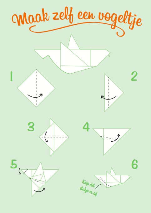 INSPIRATIE Zelf gemaakte origami handleiding tijdens stage 2 jaar geleden