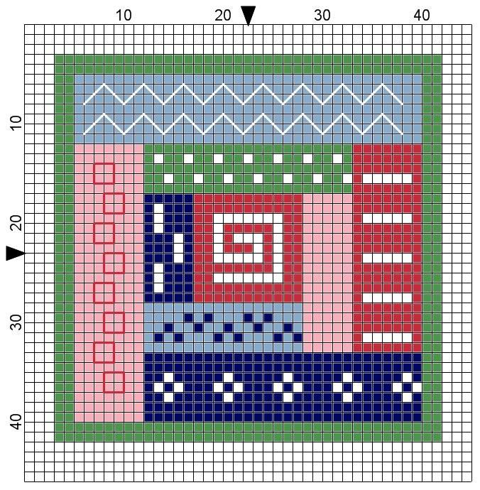The world according to Ági: Log cabin quilt cross stitch pattern