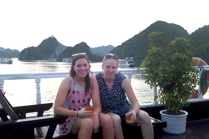 Enjoying majestic Halong Bay - the setting of two James Bond films. #VietnamSchoolTours  #HalongBay #JamesBond