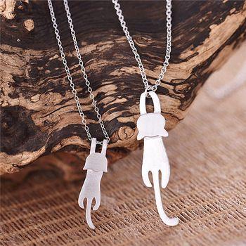 925 Sterling Silver Bonito Kitty Cat Colares & Pingentes Para As Mulheres de Alta Qualidade Esterlina-prata-jóias