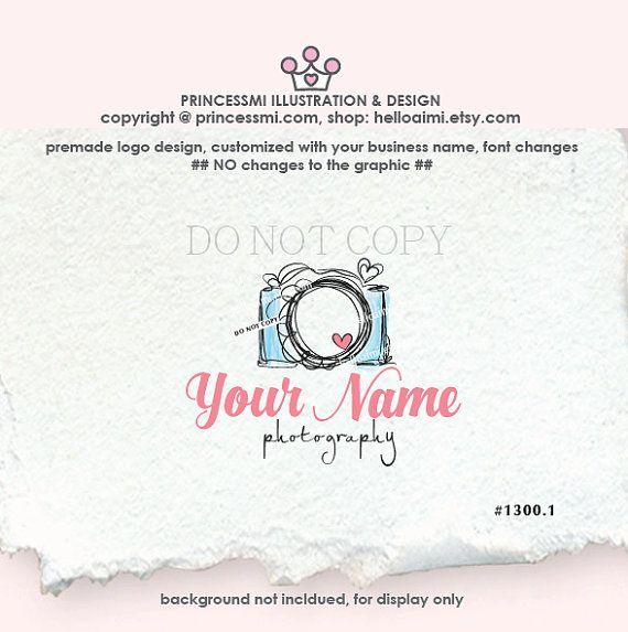 SALE  photography logo Custom logo Premade Logo by helloaimi
