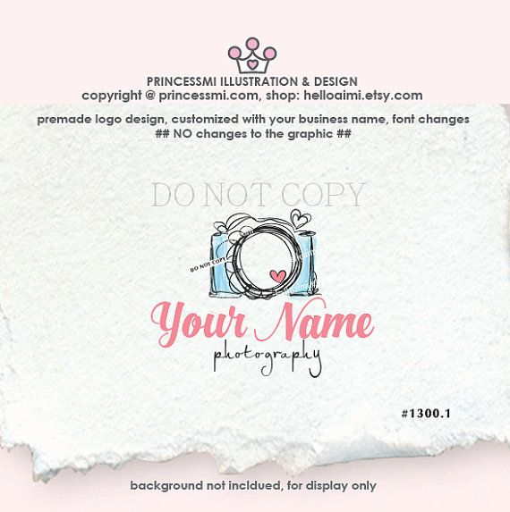SALE  photography logo Custom logo Premade Logo by helloaimi