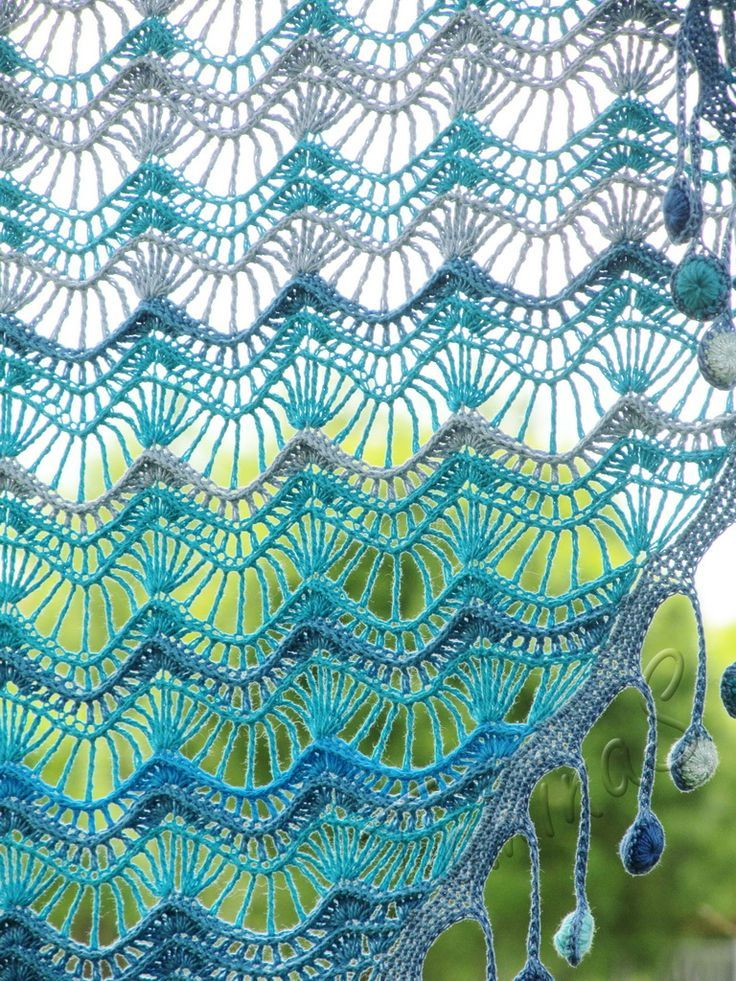 """""""Oceania"""" (crochet shawl, lace wrap, crochet lace, crochet ..."""