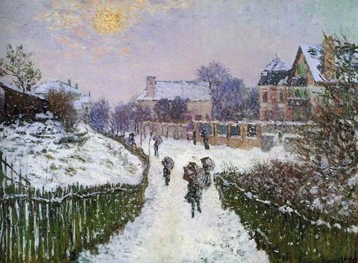 Boulevard Saint-Denis, Argenteuil, in Winter, Claude Monet 1875