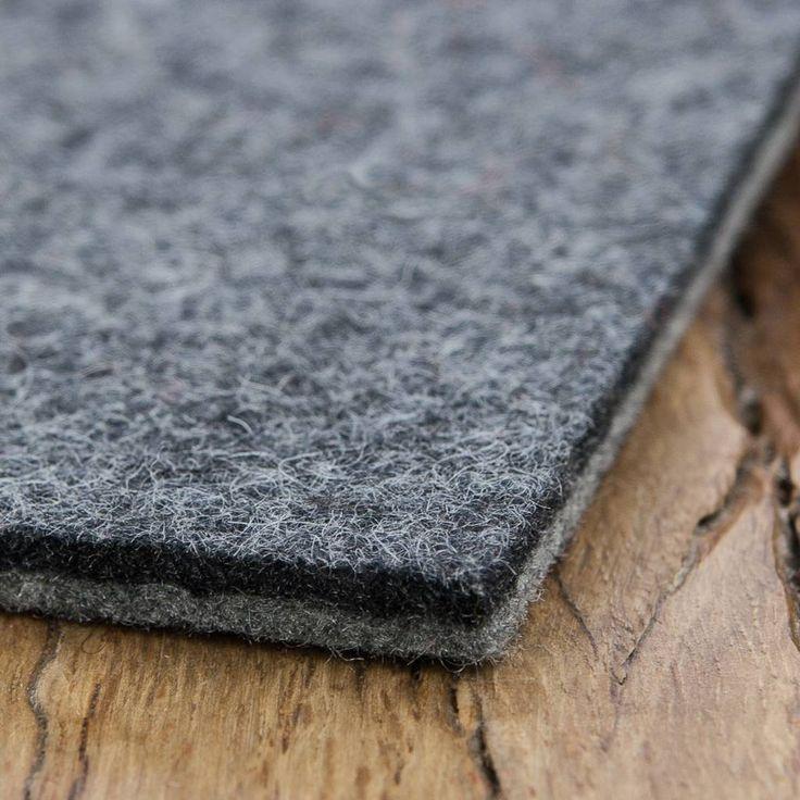 werktat Filzzuschnitt – Filz Bankauflagen auf Maß, 5 mm, Tischläufer, Schreibtischunterlagen, Filzunterlagen, Bankauflagen, bicolor grau