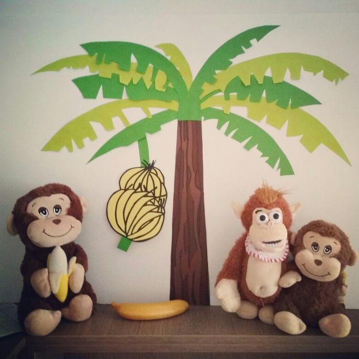 Ντεκόρ για πάρτι με θέμα μαϊμουδάκια  (monkeys and bananas birthday party ideas)