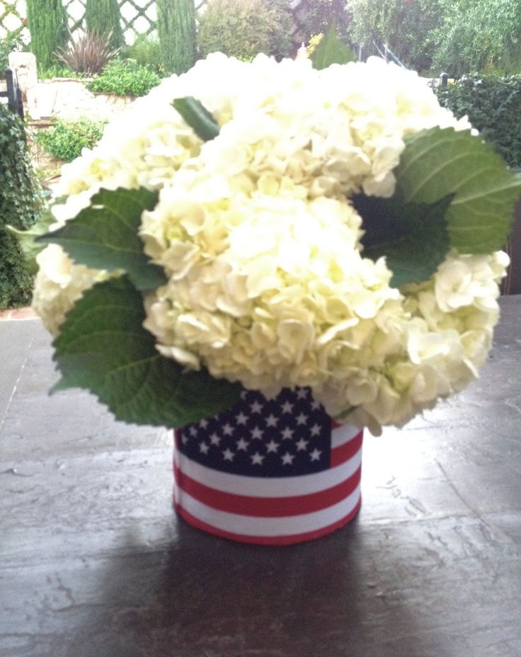 4th Of July Flower Arrangements   Make a 4th of July Flower Arrangement Using a Coffee Tin! - How 2 Girl ...