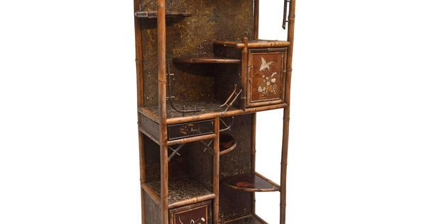 Fine 19th Century Chinoiserie Pagoda form Bamboo Display Cabinet | Display cabinets for sale, For sale and Furniture