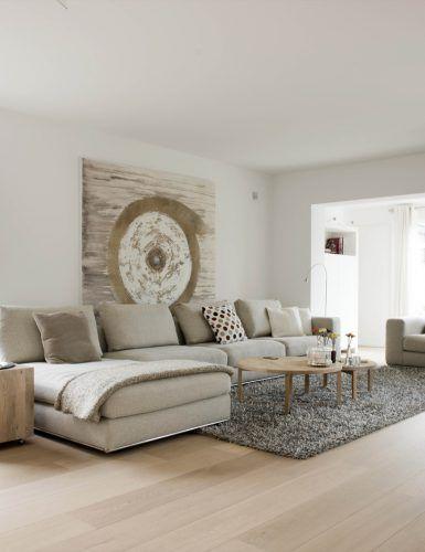 Woonkamer inrichting met luxe houten vloer | Flexoform | Pinterest