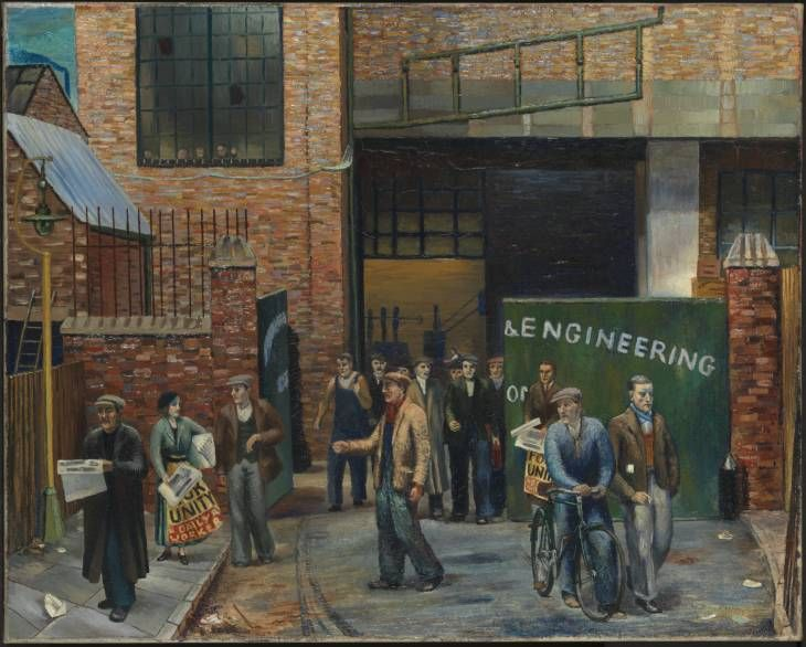 Clive Branson 'Selling the 'Daily Worker' outside Projectile Engineering Works', 1937