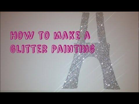 DIY Glitter Painting