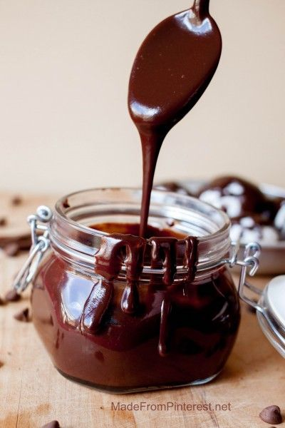 You want to put it on everything! Ice cream, cake, pretzels, fruit, you finger, your spoon and just ladle it into your mouth! 5 simple ingredients = silky chocolate sauce. Couldn't be easier!