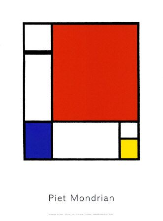 Compistion with red yellow and blue, Mondrian Constructivisme, De stilj et abstraction, 1935-42