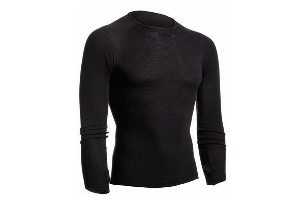 Isadore - 100% Merino Long Sleeve Baselayer Black #cyclingmemories