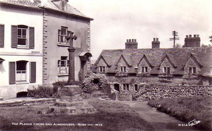 The Plague Cross and Almshouses, Ross on Wye