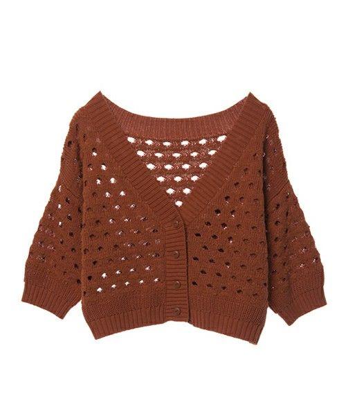 【ZOZOTOWN】w closet(ダブルクローゼット)のカーディガン「ラメ混透かし編みショートカーディガン」(292239)をセール価格で購入できます。
