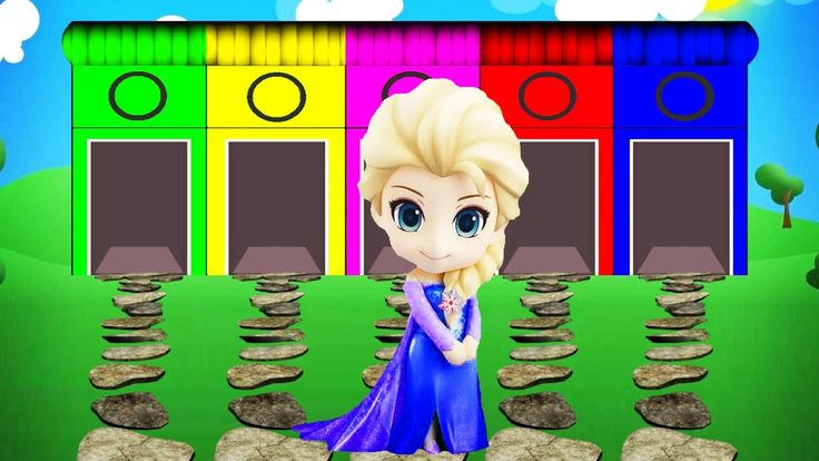 Learn Colors Frozen Elsa Cartoon Videos with Color for Kids and Nursery ...