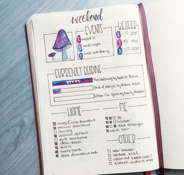 I'm in love. | 25 Satisfying Bullet Journal Layouts That'll Soothe Your Soul