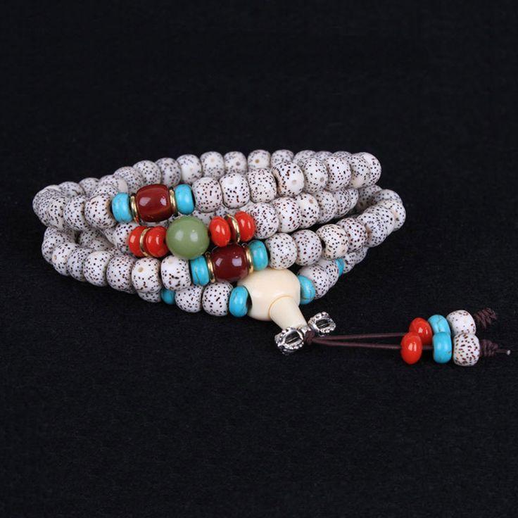 Hand-Polished Fashion DIY A+ Bodhi Seed Bracelet Green Coloured Glaze Red Agate Fashion Accessories Bead Bracelets Women Jewelry